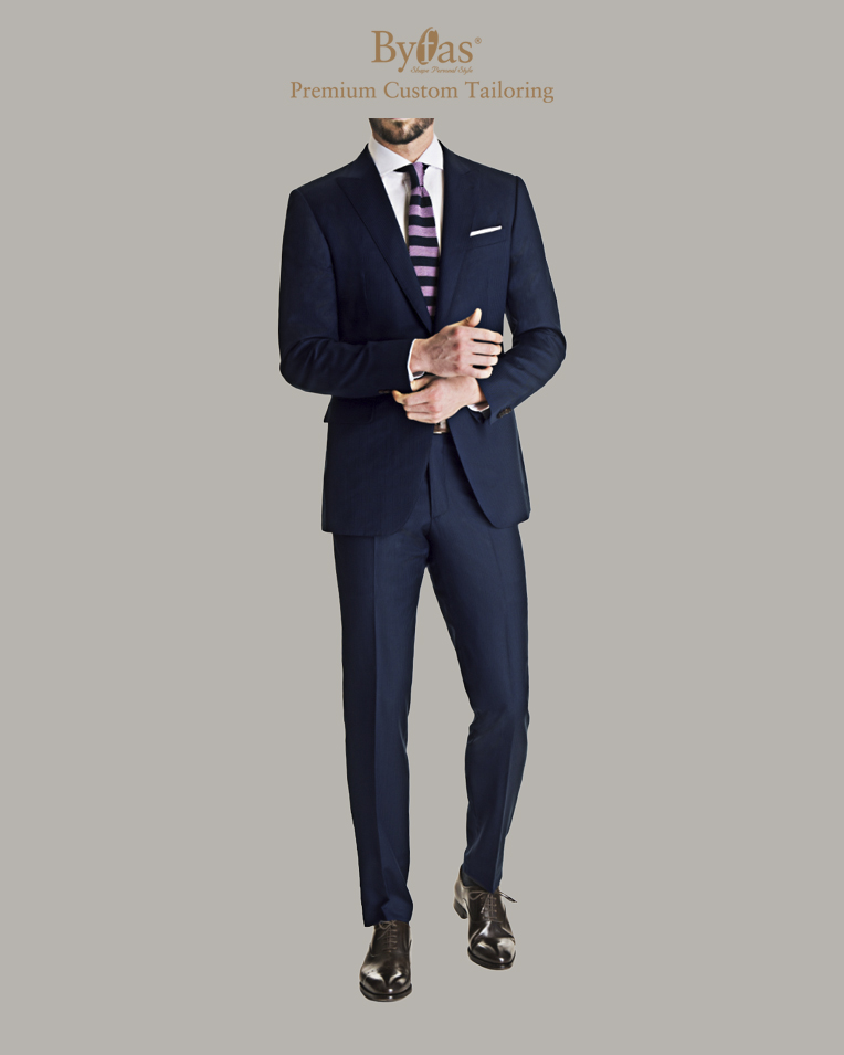 Blue Shadow Stripe Suit