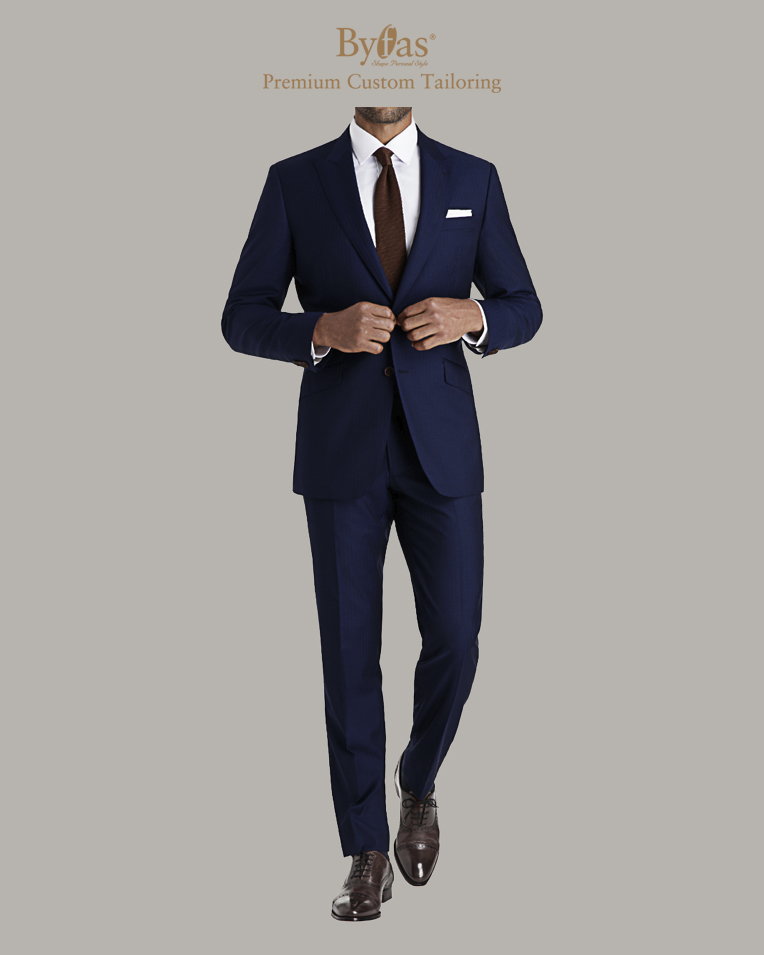 Persian Blue Herringbone Suit