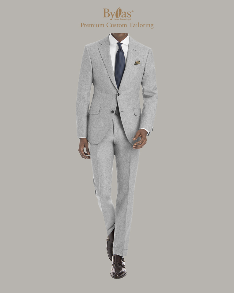 Ash Gray Flannel Suit
