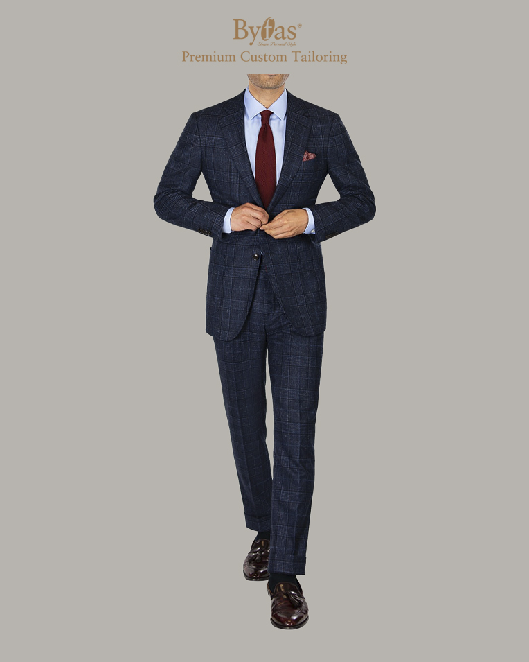 Blue Wool_Silk Tweed Suit