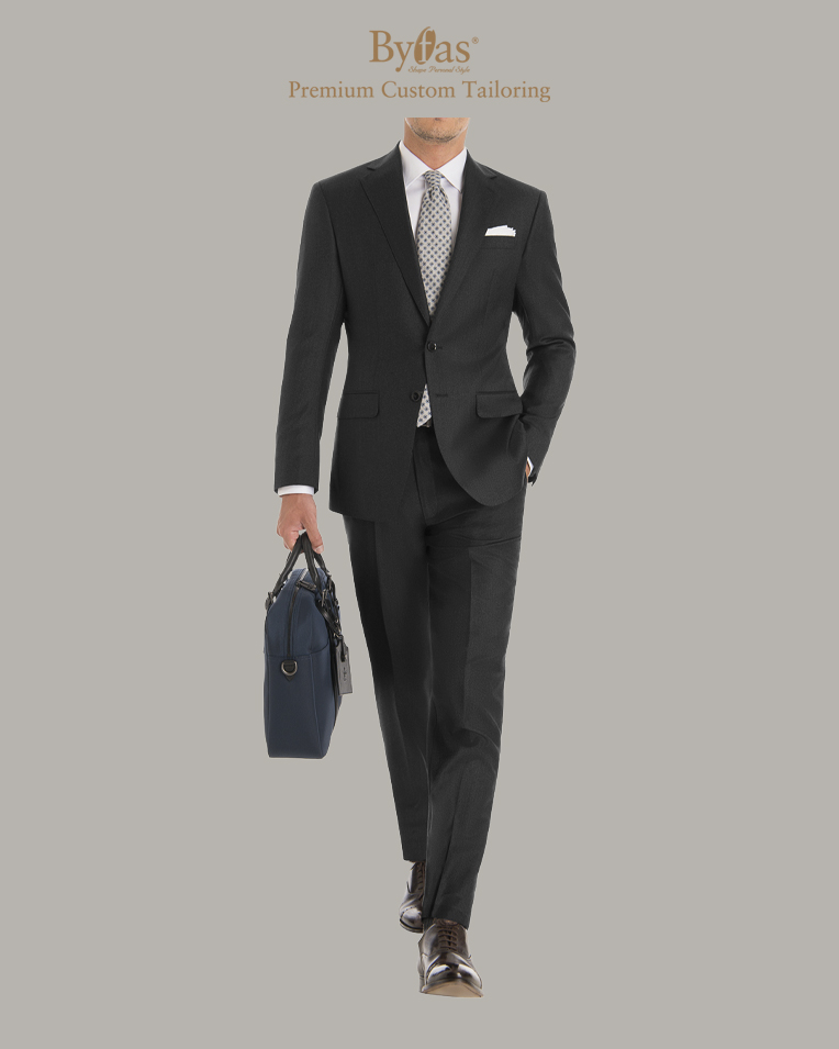 Carbon Gray Saxony Suit