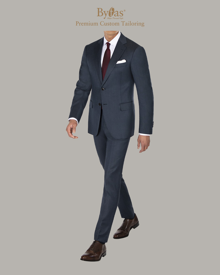 Charcoal Blue Suit in Cavalry Twill