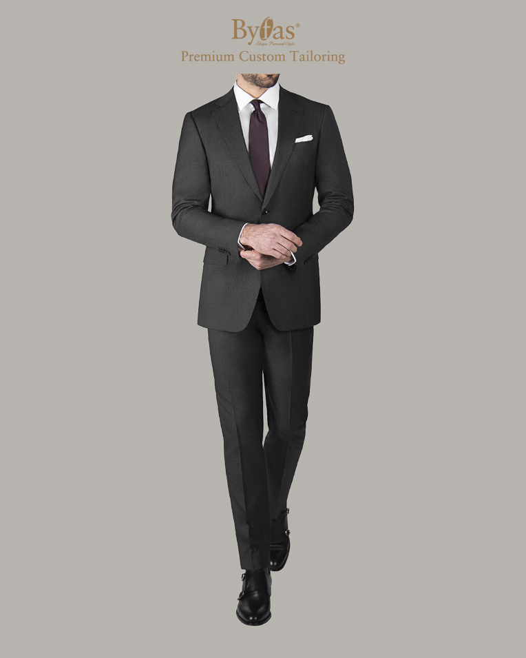 Charcoal WoolSilk Suit