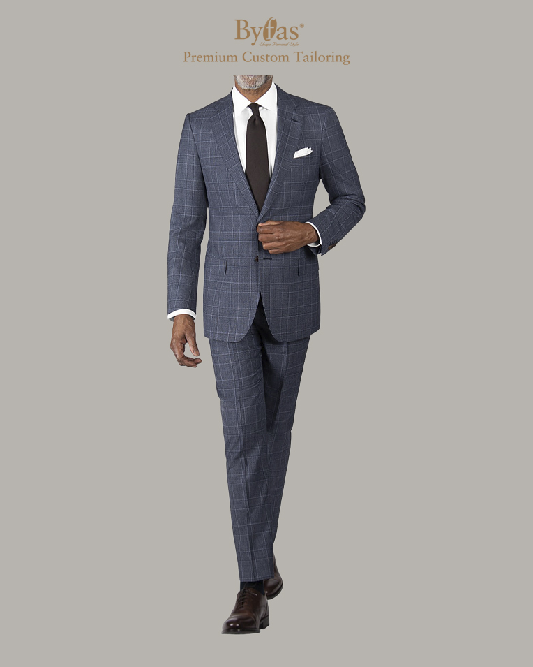 Shale Blue Glen Plaid Suit