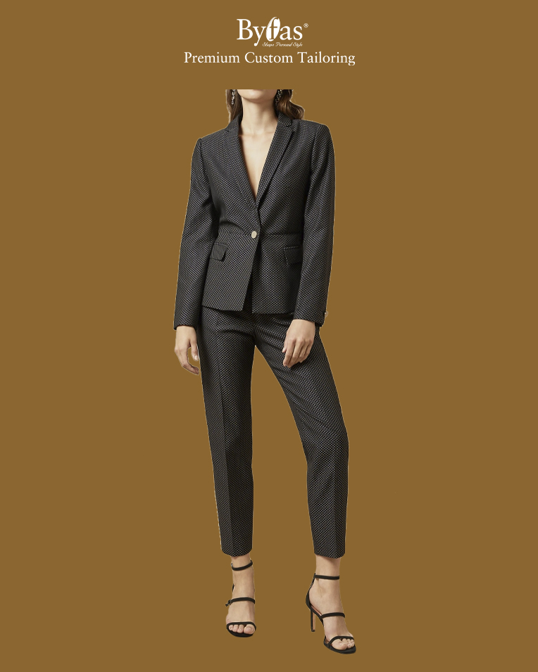 Jacquard suit jacket