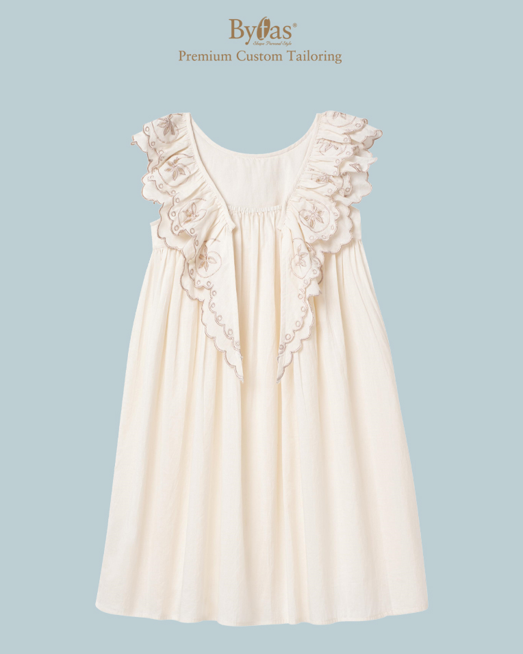 The Blush Embroidered Cotton Dress